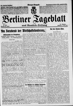 Berliner Tageblatt und Handels-Zeitung vom 04.05.1927