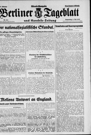 Berliner Tageblatt und Handels-Zeitung on May 5, 1927