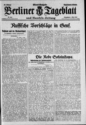 Berliner Tageblatt und Handels-Zeitung vom 07.05.1927