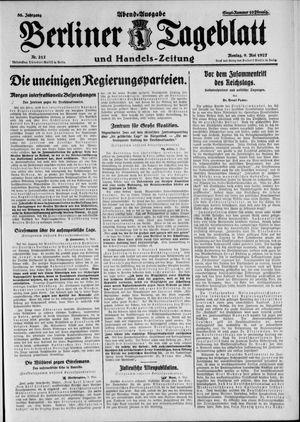 Berliner Tageblatt und Handels-Zeitung vom 09.05.1927