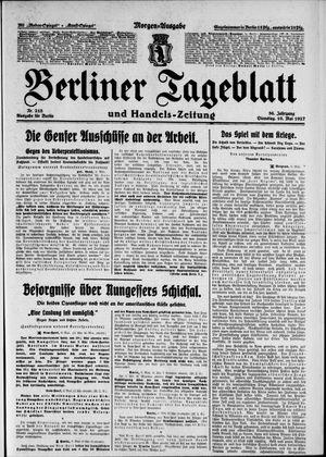 Berliner Tageblatt und Handels-Zeitung vom 10.05.1927