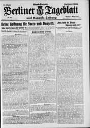 Berliner Tageblatt und Handels-Zeitung (08.08.1927)