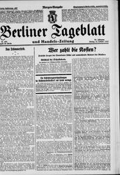Berliner Tageblatt und Handels-Zeitung (21.10.1927)