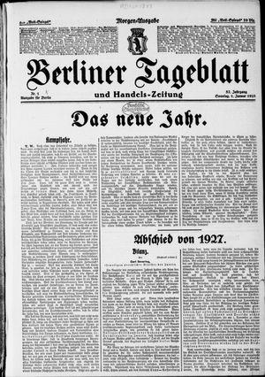 Berliner Tageblatt und Handels-Zeitung vom 01.01.1928