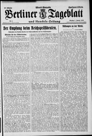 Berliner Tageblatt und Handels-Zeitung vom 02.01.1928