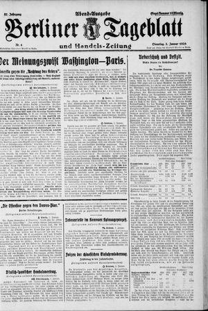 Berliner Tageblatt und Handels-Zeitung vom 03.01.1928