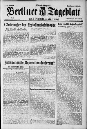 Berliner Tageblatt und Handels-Zeitung vom 05.01.1928