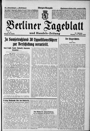 Berliner Tageblatt und Handels-Zeitung vom 10.01.1928
