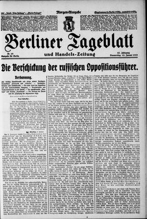 Berliner Tageblatt und Handels-Zeitung on Jan 12, 1928