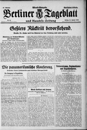 Berliner Tageblatt und Handels-Zeitung vom 13.01.1928