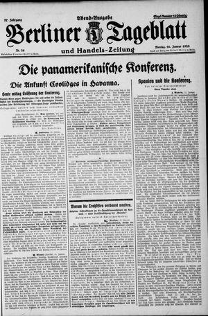 Berliner Tageblatt und Handels-Zeitung on Jan 16, 1928