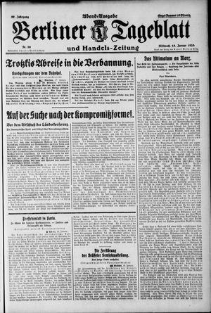 Berliner Tageblatt und Handels-Zeitung vom 18.01.1928