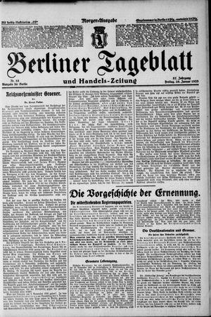Berliner Tageblatt und Handels-Zeitung vom 20.01.1928