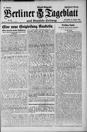 Berliner Tageblatt und Handels-Zeitung vom 21.01.1928