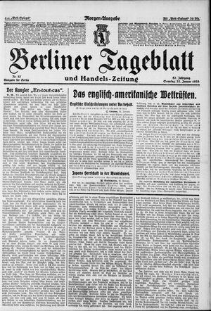 Berliner Tageblatt und Handels-Zeitung vom 22.01.1928