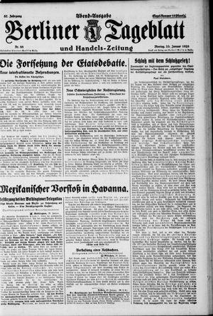Berliner Tageblatt und Handels-Zeitung vom 23.01.1928