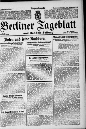Berliner Tageblatt und Handels-Zeitung vom 25.01.1928