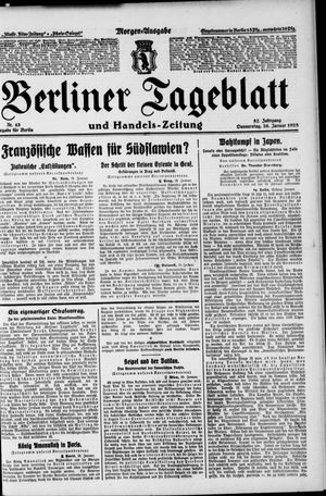 Berliner Tageblatt und Handels-Zeitung vom 26.01.1928
