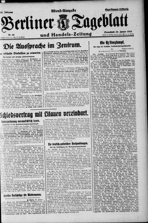 Berliner Tageblatt und Handels-Zeitung vom 28.01.1928