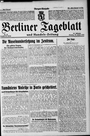 Berliner Tageblatt und Handels-Zeitung vom 29.01.1928