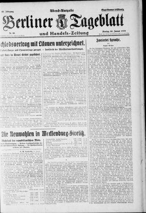 Berliner Tageblatt und Handels-Zeitung vom 30.01.1928