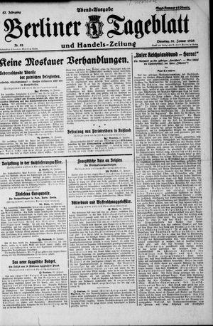 Berliner Tageblatt und Handels-Zeitung vom 31.01.1928