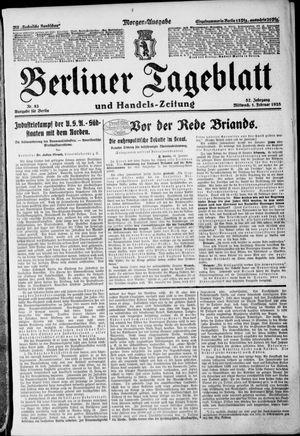 Berliner Tageblatt und Handels-Zeitung vom 01.02.1928