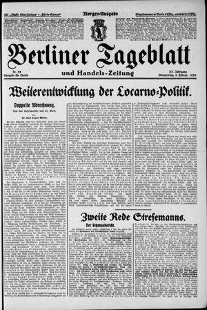 Berliner Tageblatt und Handels-Zeitung vom 02.02.1928