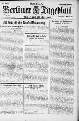 Berliner Tageblatt und Handels-Zeitung vom 04.02.1928
