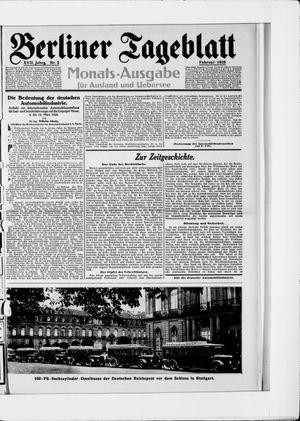 Berliner Tageblatt und Handels-Zeitung vom 06.02.1928