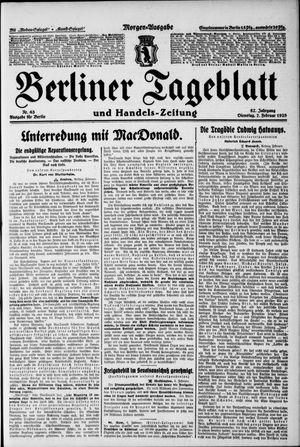 Berliner Tageblatt und Handels-Zeitung vom 07.02.1928