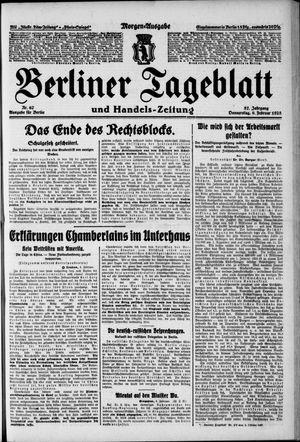 Berliner Tageblatt und Handels-Zeitung vom 09.02.1928