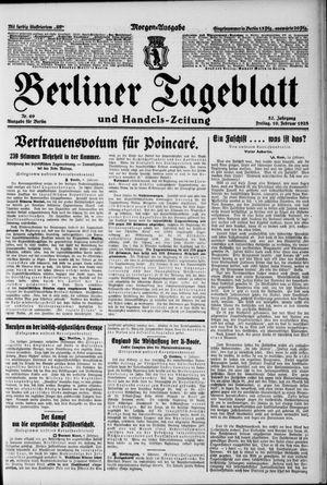 Berliner Tageblatt und Handels-Zeitung vom 10.02.1928