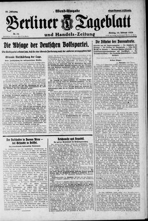 Berliner Tageblatt und Handels-Zeitung vom 13.02.1928