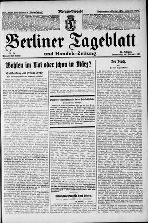 Berliner Tageblatt und Handels-Zeitung vom 16.02.1928