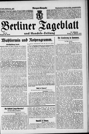 Berliner Tageblatt und Handels-Zeitung vom 17.02.1928