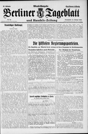 Berliner Tageblatt und Handels-Zeitung vom 18.02.1928