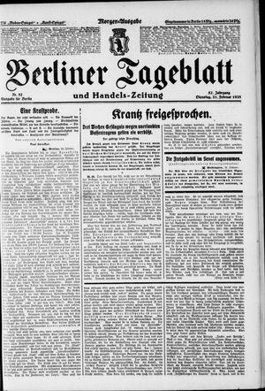 Berliner Tageblatt und Handels-Zeitung vom 21.02.1928