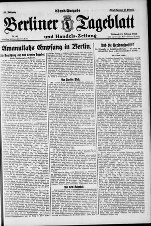 Berliner Tageblatt und Handels-Zeitung vom 22.02.1928
