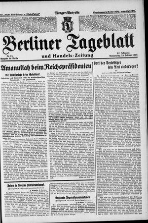 Berliner Tageblatt und Handels-Zeitung vom 23.02.1928
