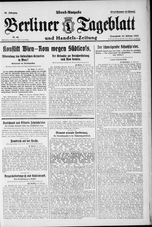 Berliner Tageblatt und Handels-Zeitung on Feb 25, 1928