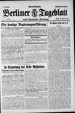 Berliner Tageblatt und Handels-Zeitung vom 27.02.1928