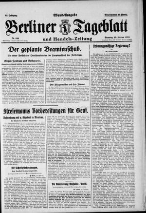 Berliner Tageblatt und Handels-Zeitung vom 28.02.1928