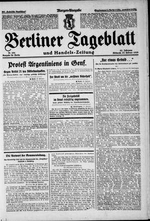 Berliner Tageblatt und Handels-Zeitung vom 29.02.1928