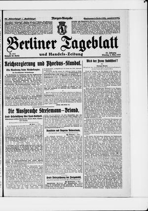Berliner Tageblatt und Handels-Zeitung on Mar 6, 1928