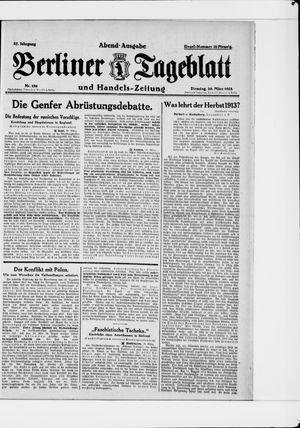 Berliner Tageblatt und Handels-Zeitung vom 20.03.1928