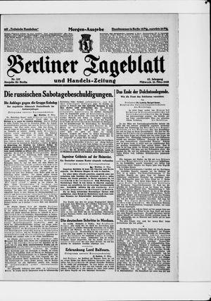 Berliner Tageblatt und Handels-Zeitung vom 21.03.1928