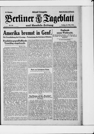 Berliner Tageblatt und Handels-Zeitung vom 23.03.1928