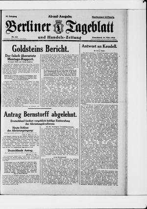 Berliner Tageblatt und Handels-Zeitung vom 24.03.1928
