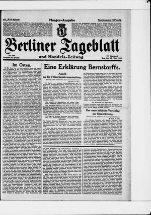 Berliner Tageblatt und Handels-Zeitung vom 25.03.1928